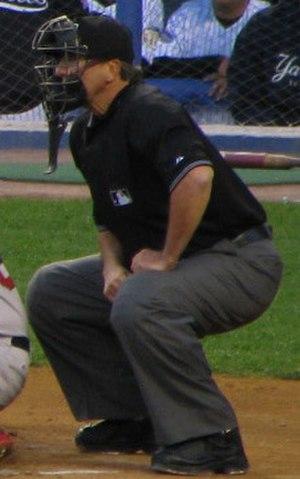 Tim McClelland - McClelland behind the plate in 2008
