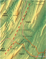 Timber Ridge (map of), a geographic feature on the border of VA and WV (USA).png