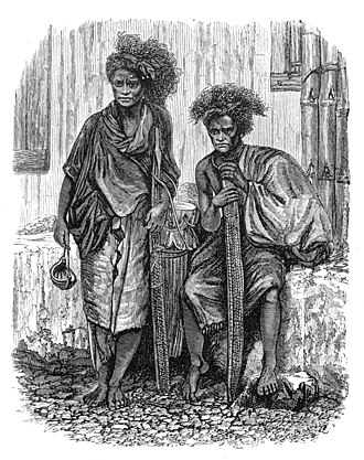 Alfred Russel Wallace centenary - Image: Timor Men in Malay Archipelago drawn by T Baines from a photo