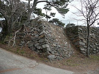 Toba Domain - Remnants of the walls of Toba Castle