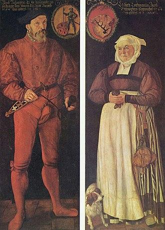 Tobias Stimmer - Portrait of Jacob Schwytzer and his wife Elsbeth Lochmann