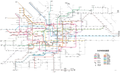 Tokyo subway system map Chinese simplified.png