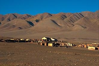 Los Andes Department - View of Tolar Grande