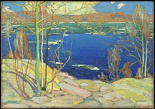 <i>Spring Ice</i> painting by Tom Thomson