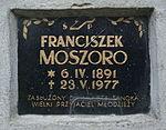 Tomb of Moszoro family at Central Cemetery in Sanok 3 Franciszek.jpg
