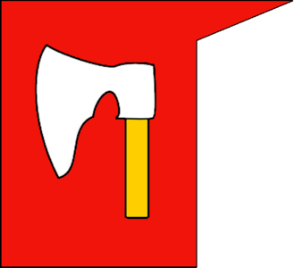 Chorągiew (military unit) - Banner of the Topór clan in the Battle of Grunwald.