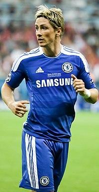 Torres nella finale di Champions nel 2012