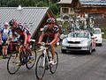 Tour de France 2009, evans en van avermaet col de romme (22212607481).jpg