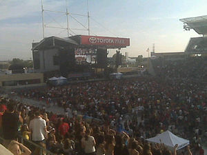 Toyota Park - The concert stage at Toyota Park, as seen during the 2010 B96 Pepsi Summer Bash