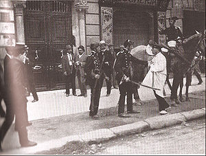 Civil Guard (Spain) - Civil Guard during the Catalan Tragic Week in 1909.