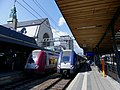 Trains régionaux CFL et SNCF en gare de Luxembourg (juin 2019).JPG