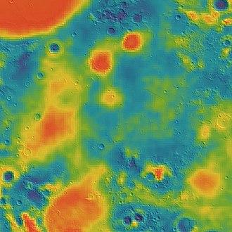 Mare Tranquillitatis - Image: Tranquillitatis basin GRAIL gravity