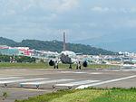 TransAsia Airways Airbus A320-232 B-22317 Taking off from Taipei Songshan Airport 20150908.jpg