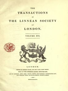 Transactions of the Linnean Society of London, Volume 16.djvu