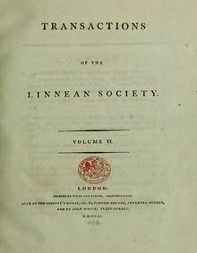 Transactions of the Linnean Society of London, Volume 6 (1802).djvu