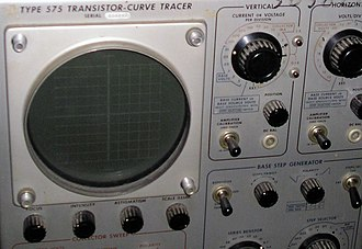 Semiconductor curve tracer - Image: Transistor curve tracer detail 1