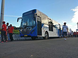 TransJakarta - Transjakarta Mercedes-Benz OC 500 RF 2542 bus with body from Nusantara Gemilang caroserie