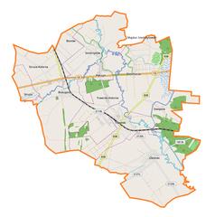 Mapa lokalizacyjna gminy Trawniki