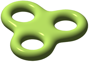 Genus (mathematics) - Image: Triple torus illustration
