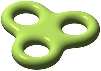 Riemann–Roch theorem - A Riemann surface of genus 3.