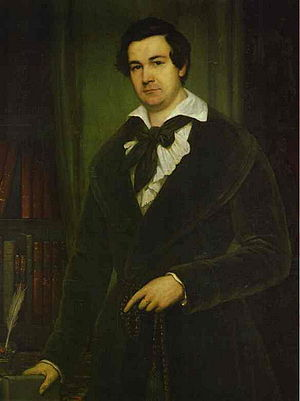 Vasily Karatygin - A portrait by Vasily Tropinin, 1842