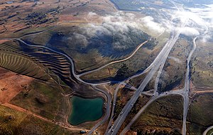 Tuggeranong Parkway - Aerial view of Tuggeranong Parkway