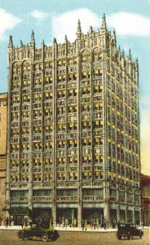 Sam P. McBirney - How the McBirney Building should look with all of its terra cotta details intact. This building is now known as the Holarud Building.