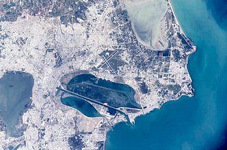 Lake of Tunis - Satellite picture of Tunis