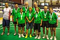 "Turin, Italy…2013 WMG medal presentations…""Yum"", Gold in 70-A Team event- (Luca),Robin, Murray, Jeff…Judy,Randi,Marg,Heiner & Eliana (10831277153).jpg"