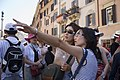 Two Japanese tourists visiting in Piazza Spagna Rome - 2404.jpg