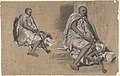 Two Studies of a Seated Arab with a Pipe MET DP810337.jpg
