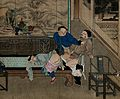 Two men fighting to be the first to penetrate a sleeping boy Wellcome V0047307.jpg