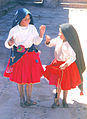 Two spinning girls Taquile island Peru.jpg
