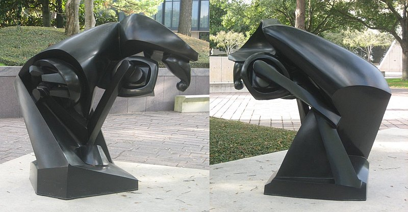 File:Two views of 'The Large Horse', a bronze sculpture by Raymond Duchamp-Villon, 1914, Museum of Fine Arts, Houston.JPG