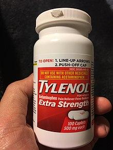 41063ed4140 A bottle of acetaminophen.