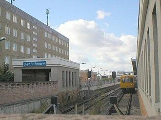 Hönow (Berlin U-Bahn) - Image: U Bahn Berlin Hönow