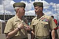 U.S. Marine Corps Gen. James F. Amos, left, the commandant of the Marine Corps, speaks with Maj. Gen. Lewis A. Craparotta during the 2013 Warrior Games at the U.S. Olympic Training Center in Colorado Springs 130512-M-LU710-101.jpg