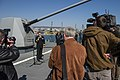 U.S. Navy Cmdr. Andrew Biehn, second from left, the commanding officer of the guided missile destroyer USS Truxtun (DDG 103) holds a press conference following a multilateral exercise with Romania and Bulgaria 140314-N-EI510-038.jpg