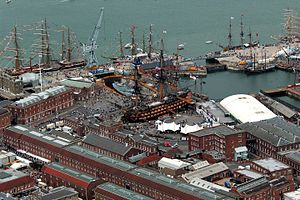 Portsmouth Historic Dockyard - Many of the buildings within the Historic Dockyard area date from the 18th century