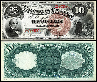 United States ten-dollar bill - 1880 $10 Legal Tender