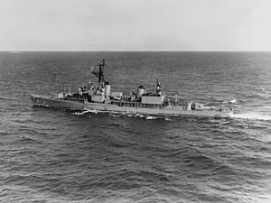 USS Fechteler (DD-870) underway in June 1964
