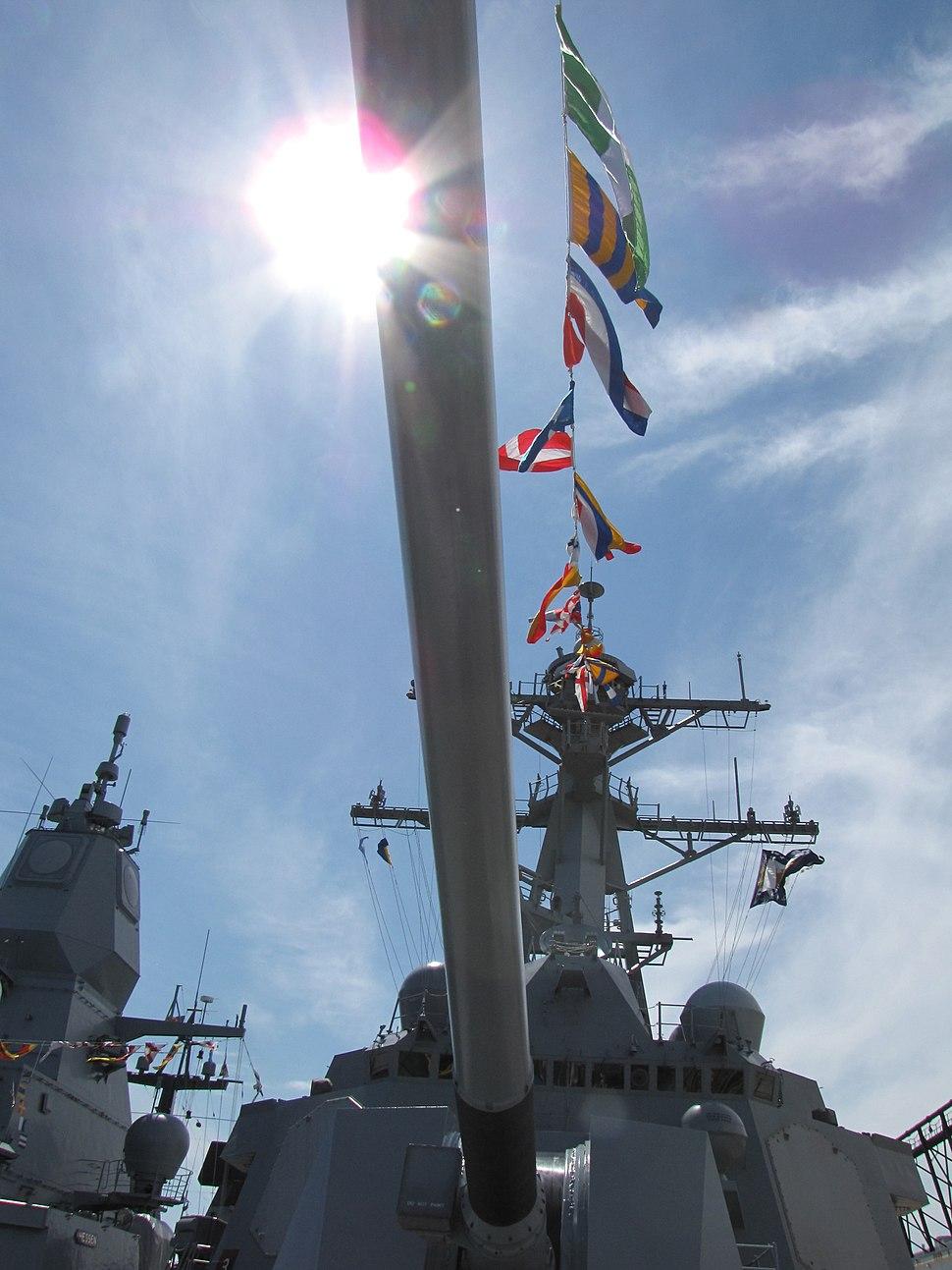 USS Gravely Forward gun