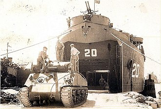 USS LST-20 - Image: USS LST 20 Guam 1945