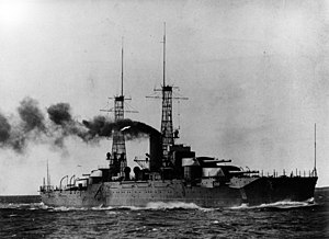 USS Nevada (BB-36) - Nevada during her running trials in early 1916
