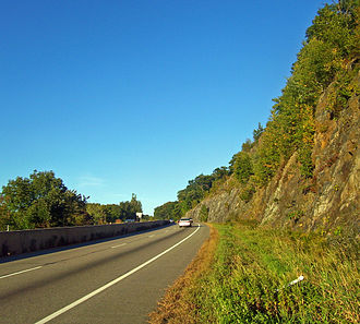 U.S. Route 6 in New York - US 6 climbing into the Hudson Highlands in Harriman State Park on the west bank of the River in New York