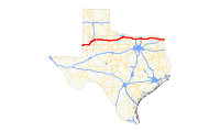 US 82 (TX) map.svg