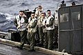 US Navy 030212-N-4308O-066 Landing Signal Officers evaluate the landing of an aircraft aboard the USS Harry S. Truman (CVN 75).jpg