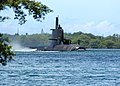 US Navy 040823-N-3019M-001 The Australian Collins-class submarine, HMAS Rankin (SSK 78), enters Pearl Harbor for a port visit after completing exercises in the Pacific region.jpg