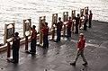 US Navy 050223-N-7405P-111 Gunner's Mates tally scores during a 9MM pistol shoot on an elevator aboard the Nimitz-class aircraft carrier USS Harry S. Truman (CVN 75).jpg