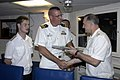 US Navy 060327-N-4658L-115 Vice Adm. Konstantin Sidenko, presents a Russian Pacific Fleet photo book to USS Chung-Hoon (DDG 93) Commanding Officer, Cmdr. Dave Welch.jpg